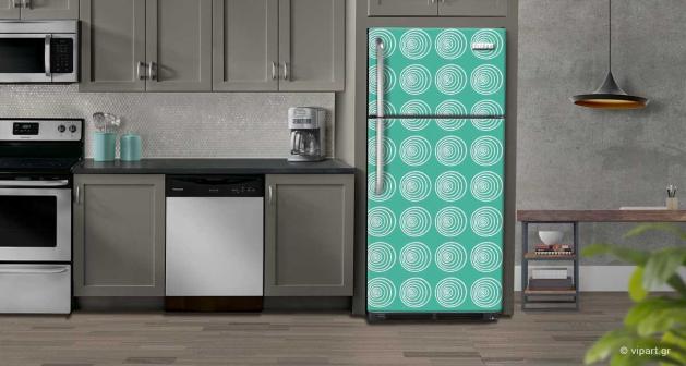 """Αυτοκόλλητο Ψυγείου """" Retro Style Geometric Lines """""""