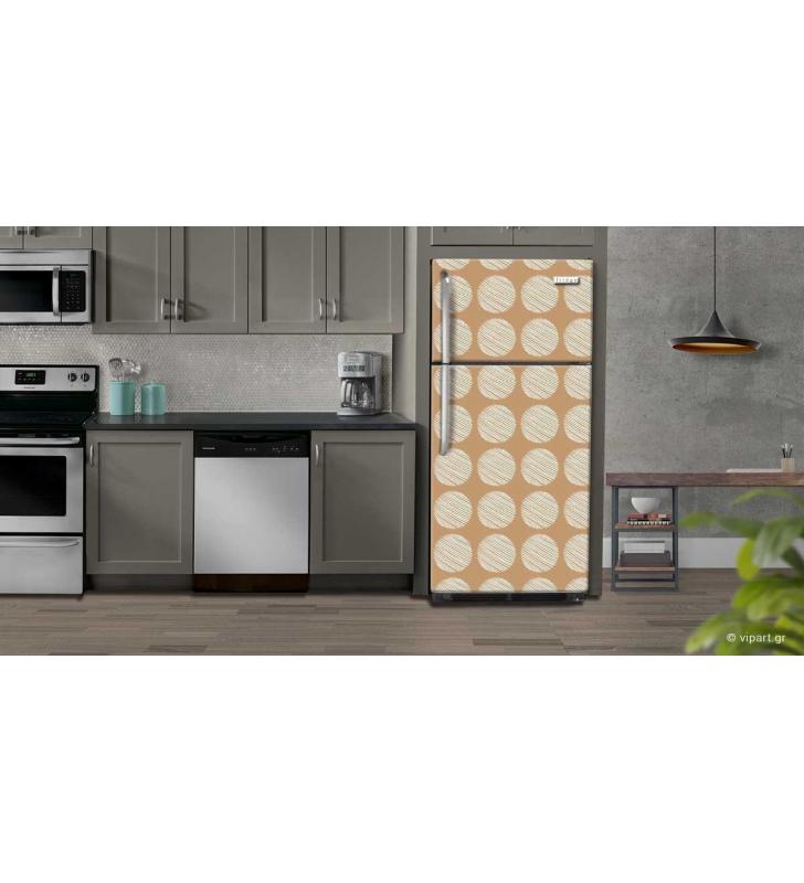 """Αυτοκόλλητο Ψυγείου """" Retro Style Geometric Cycles Two """""""