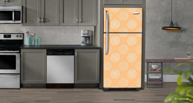 """Αυτοκόλλητο Ψυγείου """" Retro Style Geometric Cycles """""""