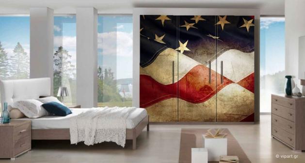 """Αυτοκόλλητο Επίπλων """" Flag USA """""""