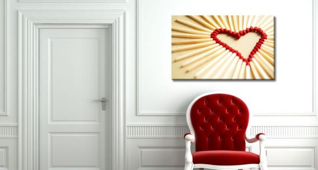 Καμβάς Σχέδιο Καρδιάς