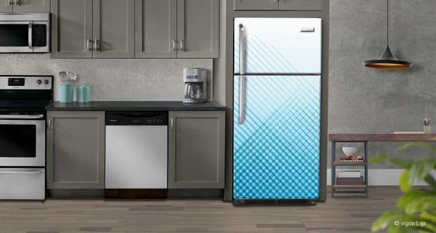 """Αυτοκόλλητο Ψυγείου """"Μπλέ Γραμμές"""""""