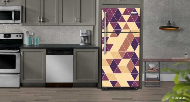 """Αυτοκόλλητο Ψυγείου """"Γεωμετρικά Τρίγωνα"""""""