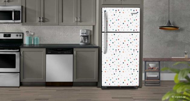 """Αυτοκόλλητο Ψυγείου """"Colorfull Dots"""""""