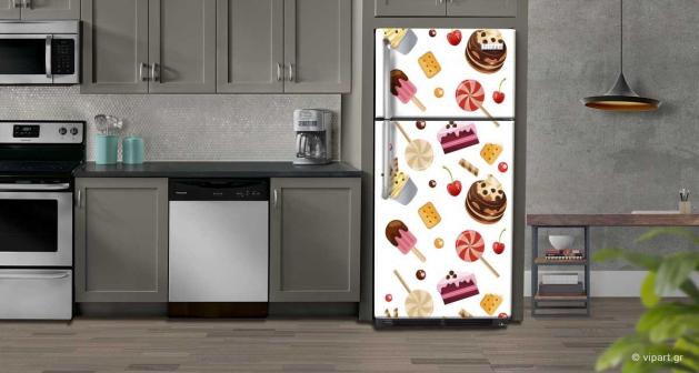 """Αυτοκόλλητο Ψυγείου """"Sweets & Lollipop"""""""