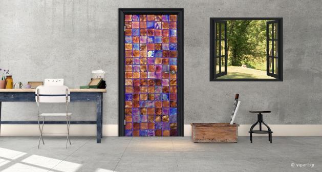 """Αυτοκόλλητο Πόρτας """"Glass Motivo"""""""