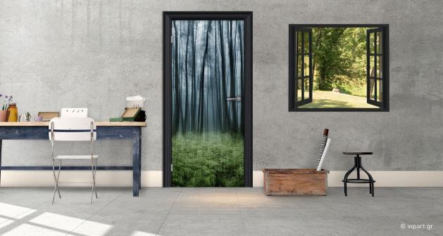 """Αυτοκόλλητο Πόρτας """"Δάσος"""""""