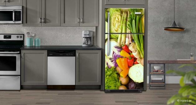 """Αυτοκόλλητο Ψυγείου """"Λαχανικά"""""""
