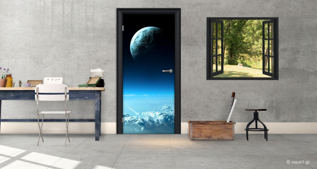 """Αυτοκόλλητο Πόρτας """"Earth"""""""