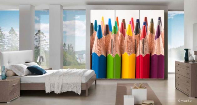 """Αυτοκόλλητο Επίπλων """"Colored Pencils"""""""