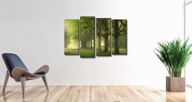 Καμβάς Τετράπτυχος  Δέντρα & Φύση