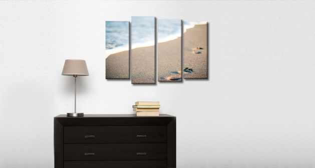 Καμβάς Τετράπτυχος Θάλασσα & Άμμος