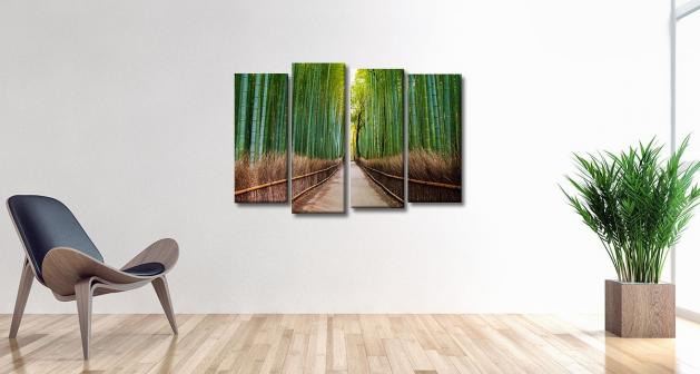 Καμβάς Τετράπτυχος Bamboo