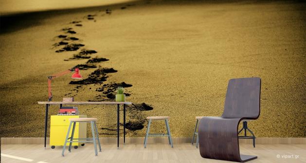Ταπετσαρία Τοίχου Sand Footsteps