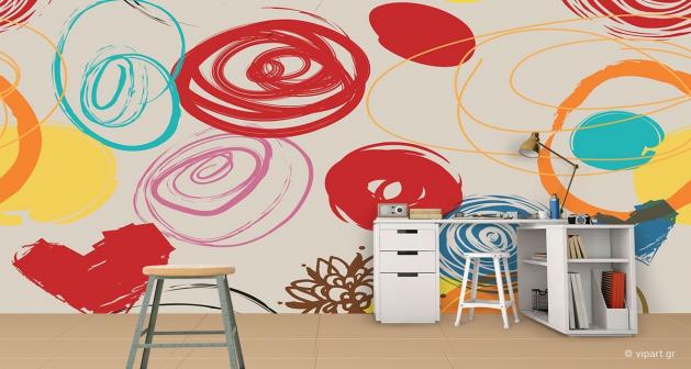 Ταπετσαρία Τοίχου Colored Design