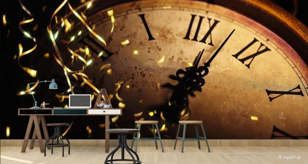 Ταπετσαρία Τοίχου Clock