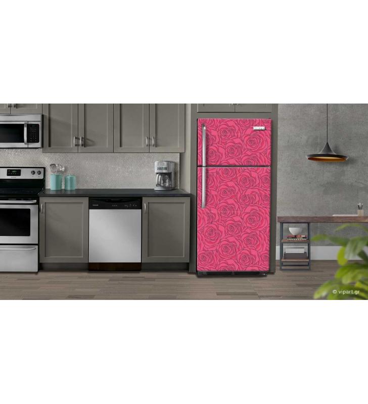 """Αυτοκόλλητο Ψυγείου """"Rose Pattern"""""""
