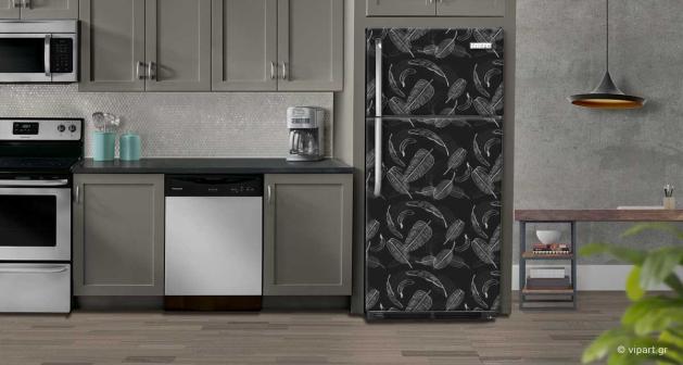 """Αυτοκόλλητο Ψυγείου """"Leaves Pattern"""""""