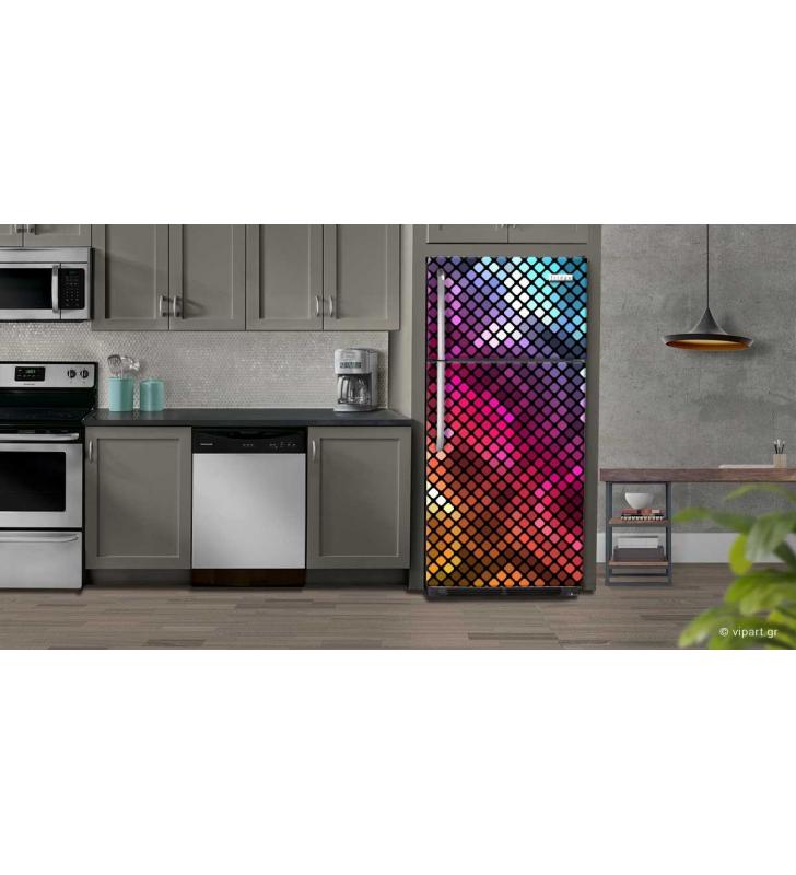 """Αυτοκόλλητο Ψυγείου """"Pixel Design"""""""