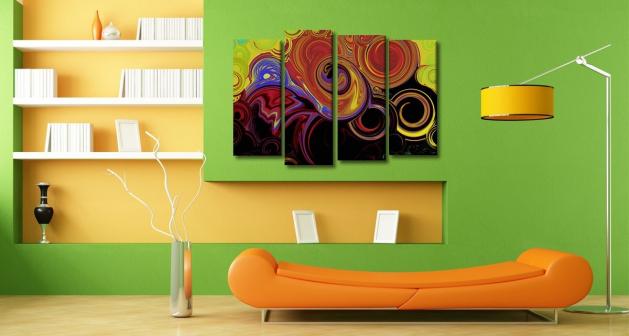 Καμβάς Τετράπτυχος Modern Spiral Art