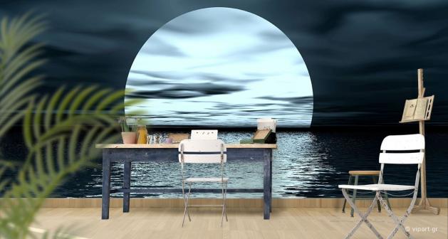 Ταπετσαρία Τοίχου Moon Reflection Sea