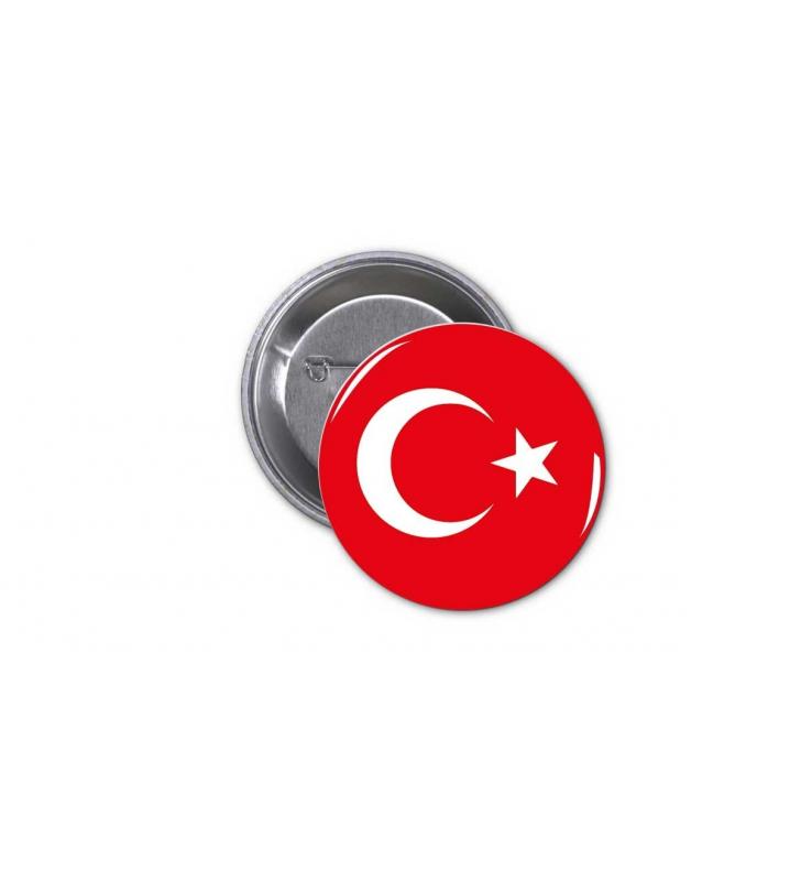 Κονκάρδα Τούρκικη Σημαία - Turkey Flag