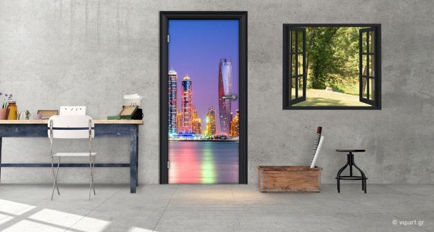 """Αυτοκόλλητο Πόρτας """"Dubai"""""""