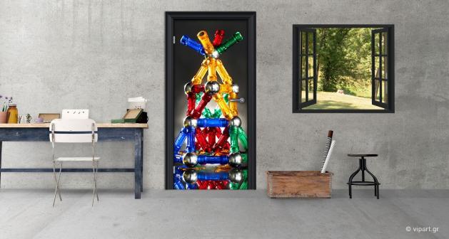 """Αυτοκόλλητο Πόρτας """"Μαγνητάκια Πυραμίδα"""""""