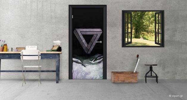 """Αυτοκόλλητο Πόρτας """"Strange Triangle"""""""