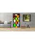 """Αυτοκόλλητο Πόρτας """"Colorful Glass"""""""
