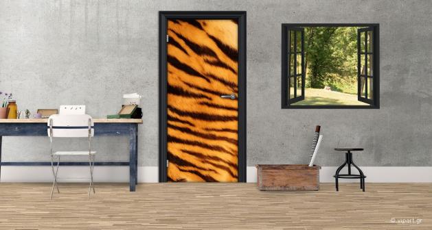 """Αυτοκόλλητο Πόρτας  """"Animal Print"""""""