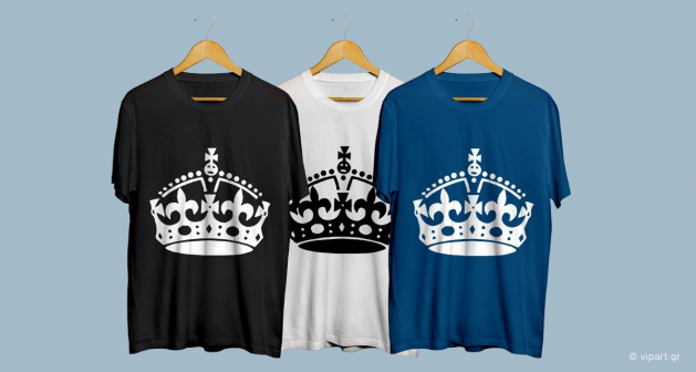 """Εκτύπωση σε μπλουζάκι """" Keep Calm - Crown """""""