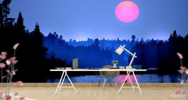 Ταπετσαρία Τοίχου Sunset Pink Moon
