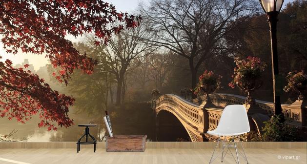 Ταπετσαρία Τοίχου Autumn Bridge