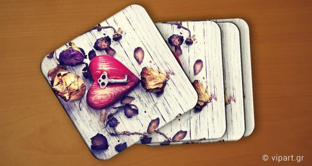 Σουβερ 6 τεμάχια Heart Key