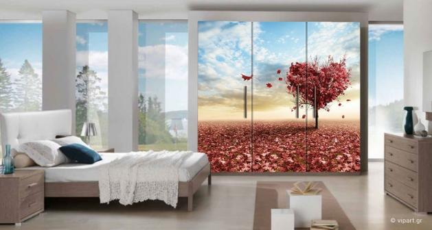 """Αυτοκόλλητο Επίπλων  """"Pink Heart Tree"""""""