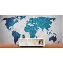 Ταπετσαρία Τοίχου παγκόσμιος χάρτης τσαλακωμένος