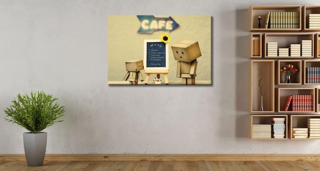 καμβάς χάρτινο sad robot menu