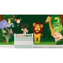Παιδική Ταπετσαρία Τοίχου Ζώα - Δάσος - cartoon