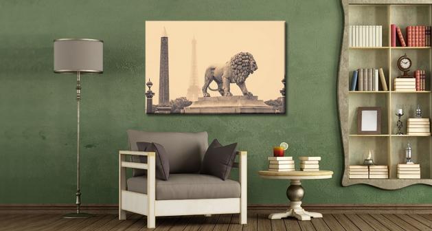 Καμβάς Άγαλμα Λιονταριού