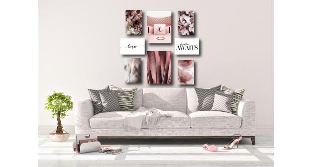 Σύνθεση Με Πίνακες Καμβάδες Elegant loui viton