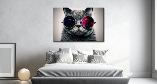 Καμβάς Γάτα John Lennon