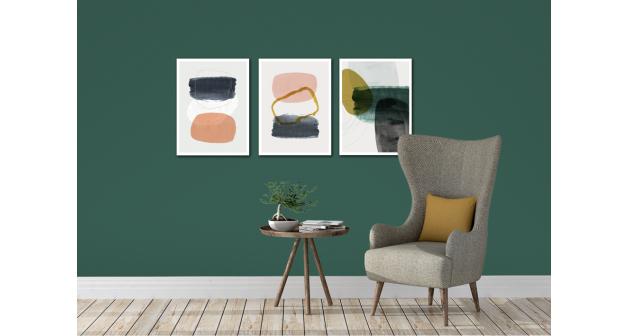 Σύνθεση Με Πίνακες Καμβάδες 30x40 - 3 Τεμάχια - Line Art