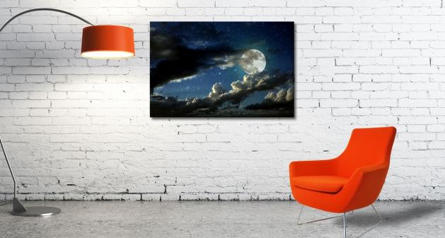 Καμβάς Φεγγάρι Συννεφιά