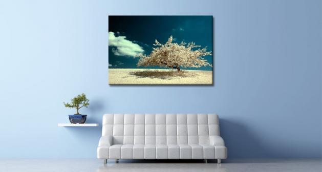 Καμβάς Λευκό Δέντρο