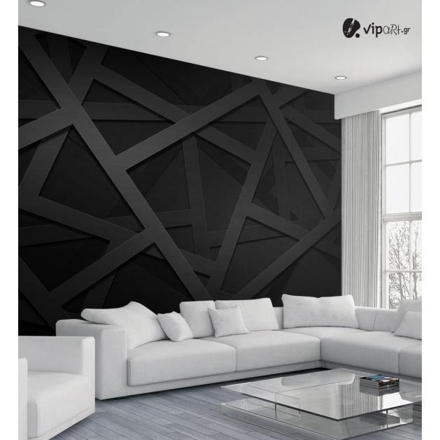 Ταπετσαρία Τοίχου  Γεωμετρικά Σχήματα Μαύρα