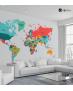 Ταπετσαρία Τοίχου Παγκόσμιος πολιτικός χάρτης