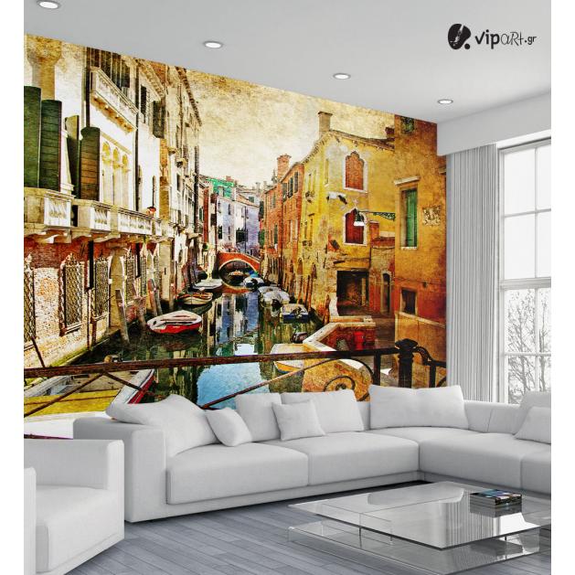 Ταπετσαρία Τοίχου Βενετία Βάρκες art