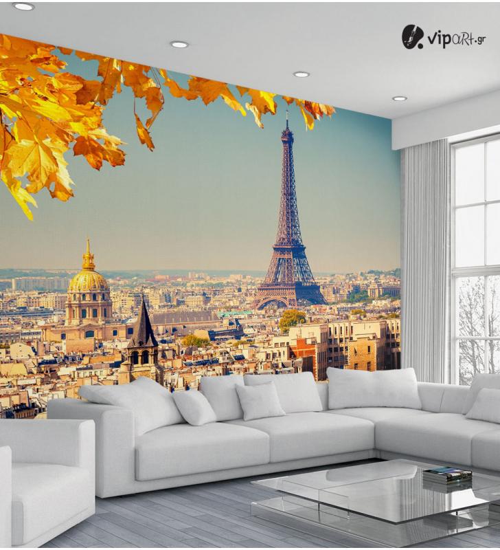 Ταπετσαρία Τοίχου με εκτύπωση Πύργος του Άιφελ Paris Autumn