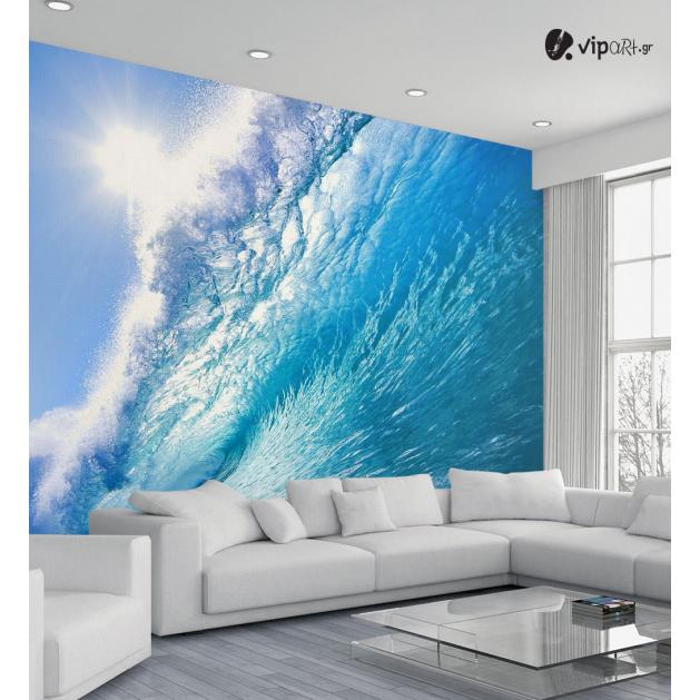 Ταπετσαρία Τοίχου Κύματα Θάλασσας